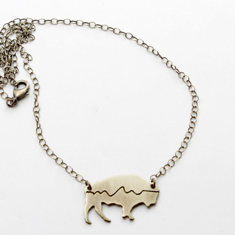 Mountains on Buffalo Necklace Daphne Lorna
