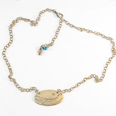 St. Mary Lake in Glacier Necklace - Daphne Lorna Jewelry