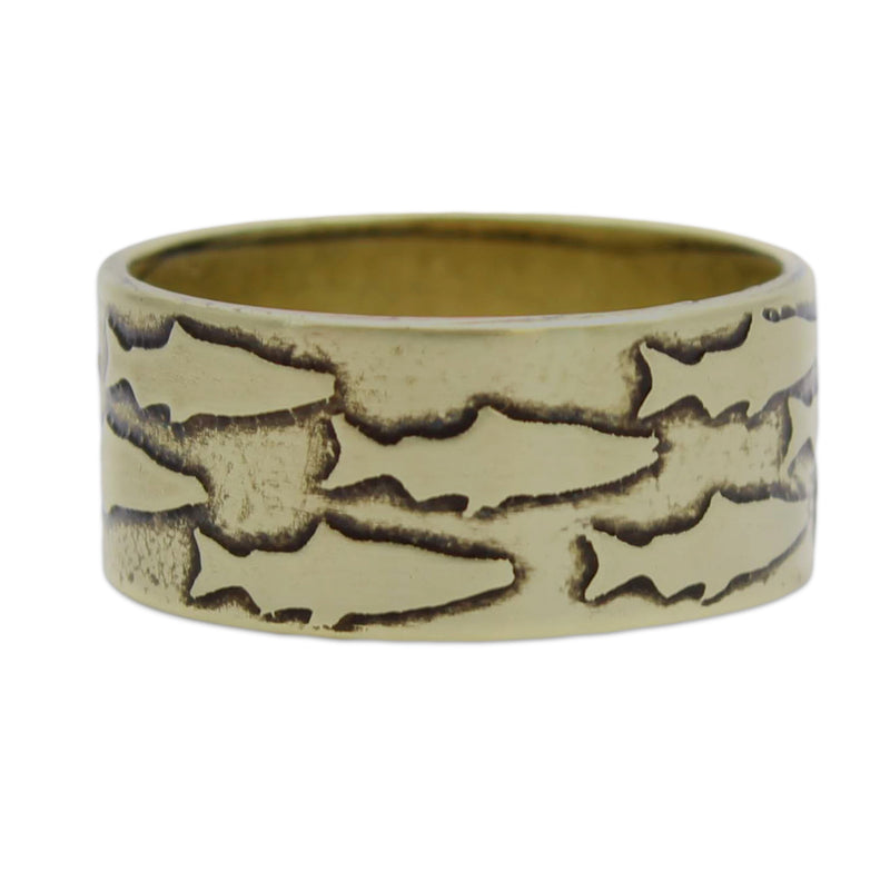 Salmon Ring, Antique Brass / 7, Daphne Lorna