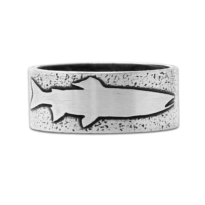 Trout Ring, Matte Silver / 6, daphne lorna
