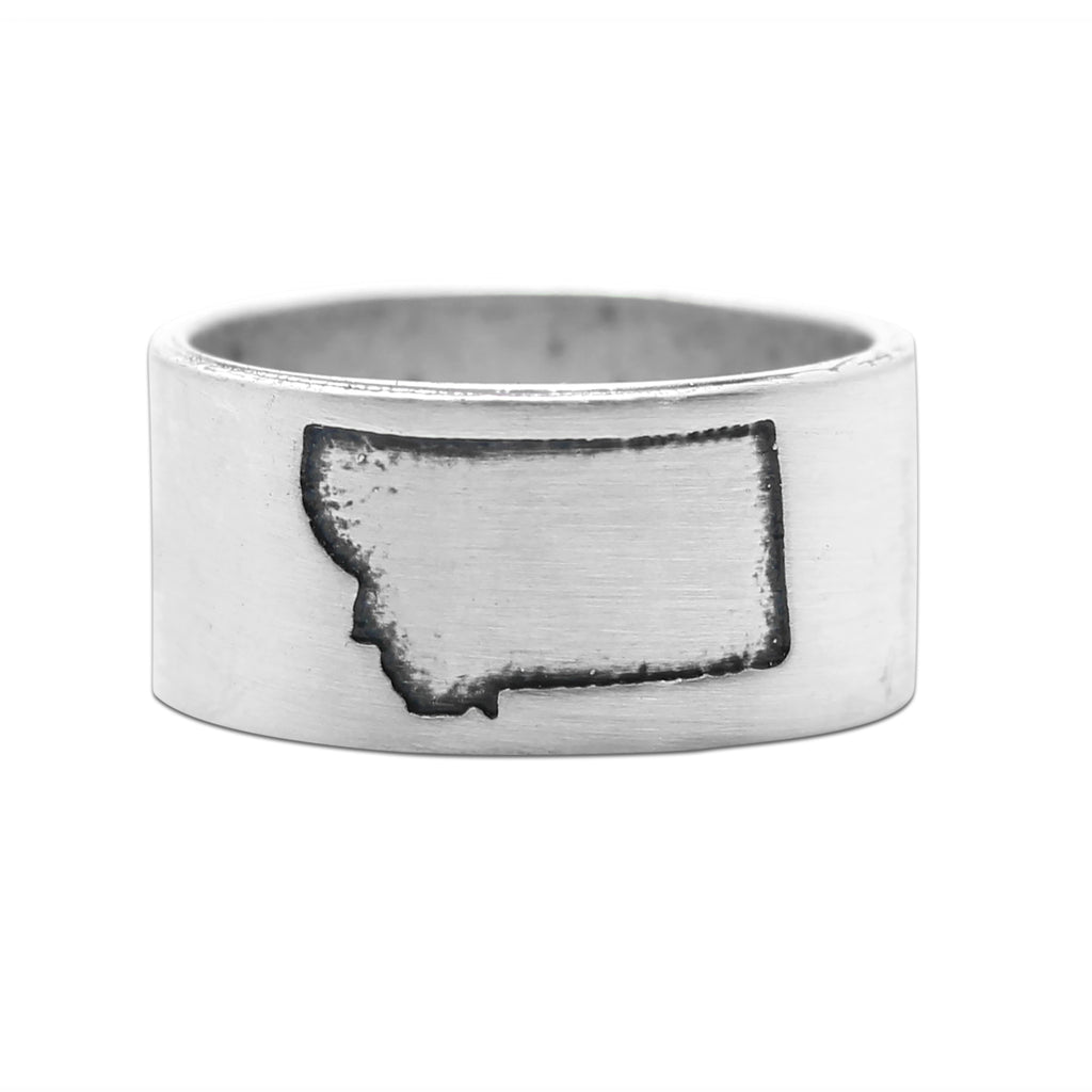 Montana State Outline Ring Daphne Lorna