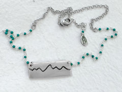 Simple Teton Mountain Necklace - Daphne Lorna Jewelry