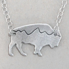 Mountains on Buffalo Necklace - Daphne Lorna Jewelry