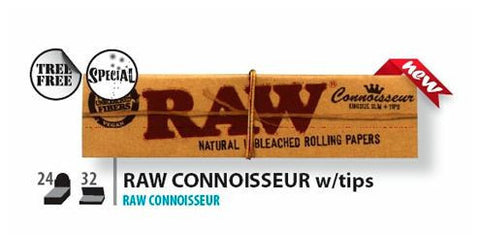 KingSize Slim RAW Natural Rolling Papers and Tips