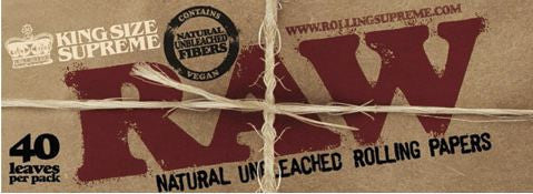 KingSize Supreme RAW Natural Rolling Papers