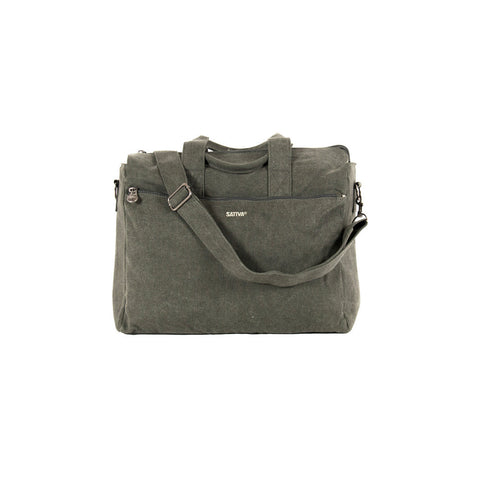 Sativa Hemp Laptop Bag with Handle & Shoulder Strap