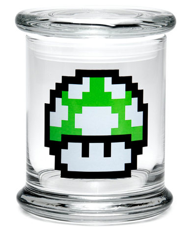 Pop-Top 420 Jar - 1-Up Mushroom