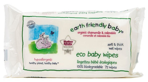 Earth Friendly Baby Eco Baby Wipes (72 wipes)