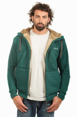 Hemp Hoodlamb Mens Furry Hoody