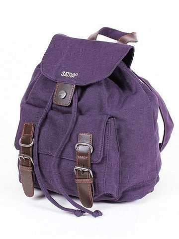 Sativa Hemp Buckle-Front Backpack