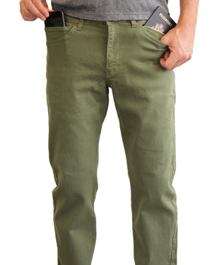 The Best Travel Jeans in the World | Olive Green