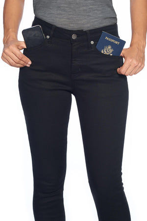 The Best Travel Jeans in the World | Comfort Skinny | Jet Black