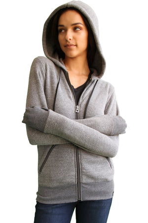 The First Class Travel Hoodie (Women) | Heather Grey