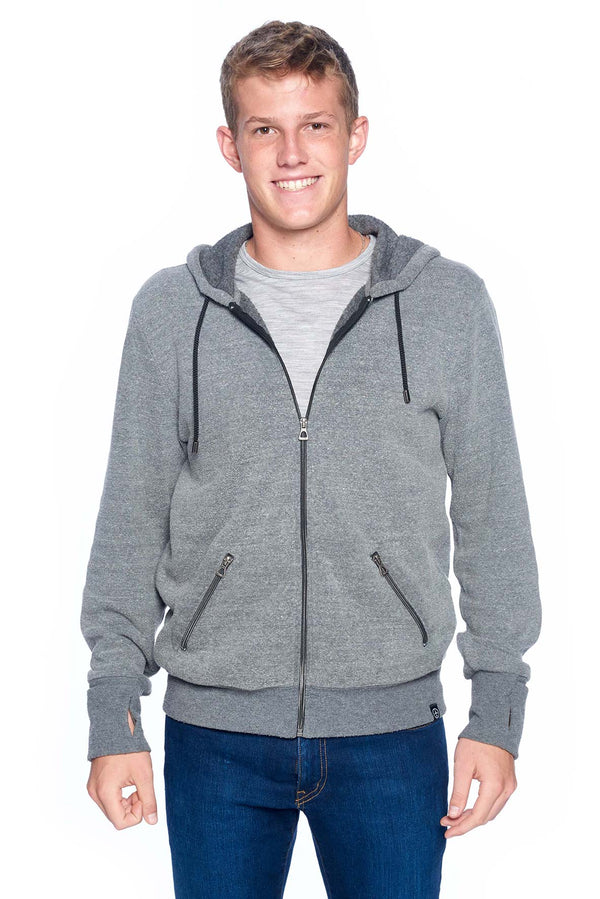 The First Class Travel Hoodie (Men) | Heather Grey