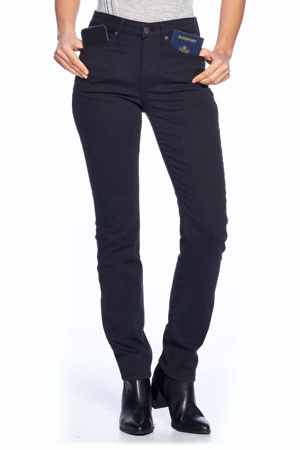 The Best Travel Jeans in the World | Comfort Slim Straight | Jet Black