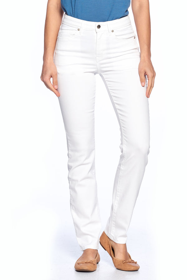 The Best Travel Jeans in the World | Comfort Slim Straight | White
