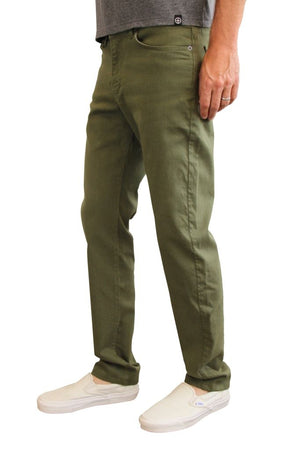 The Best Travel Jeans In The World | Olive Green Mens