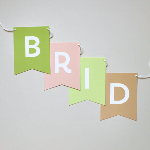 Banner - Earthy Colors - Bridal Shower Message