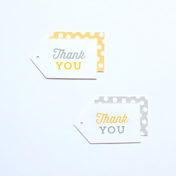 Gift Tag - Thank You - Various Colors - Baby Shower