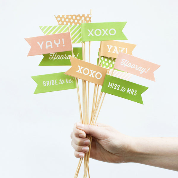 Bridal Shower Large Flags - Bachelorette Party