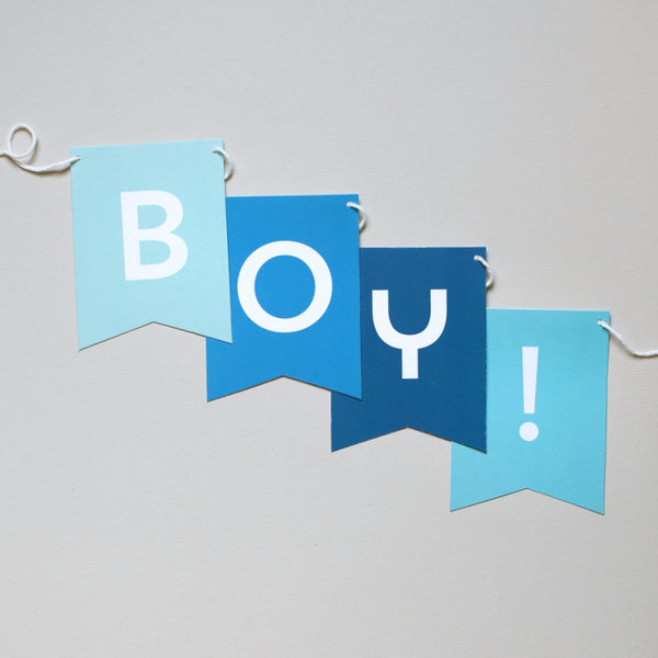 Baby Boy Banner - Choose A Message