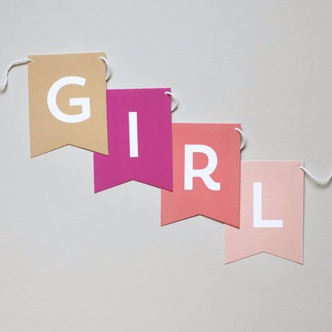 Baby Girl Banner - Choose a Message