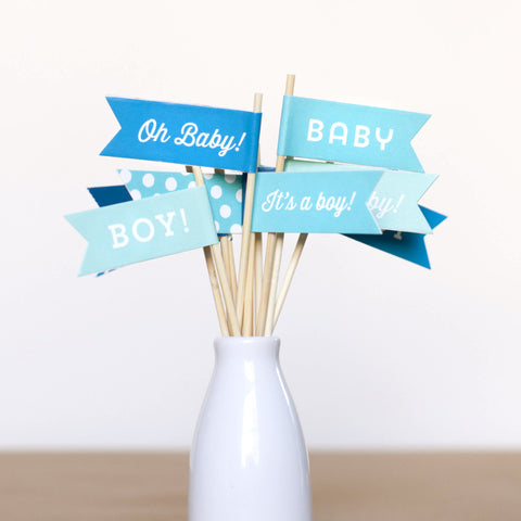 Baby Boy Small Flags