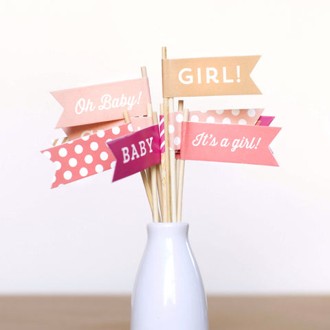 Baby Girl Small Flags