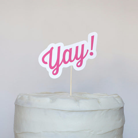 Yay! Cake Topper
