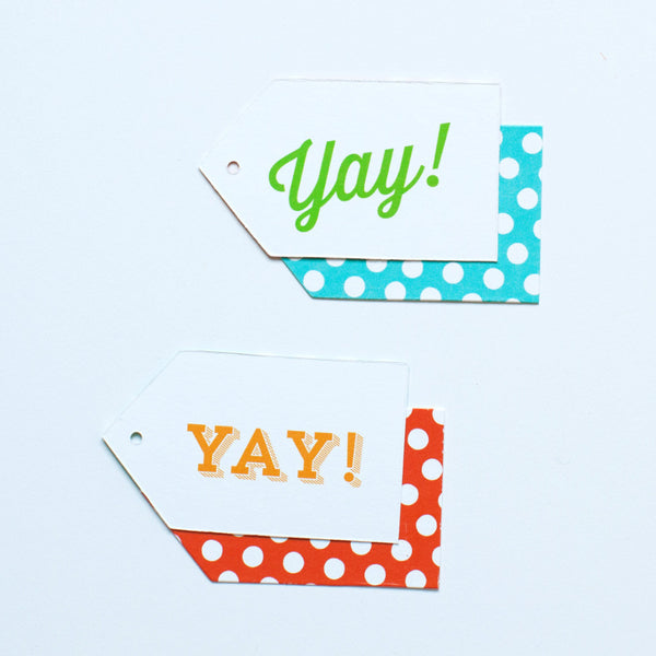 Gift Tag - Yay! - Various Colors - Hooray Collection