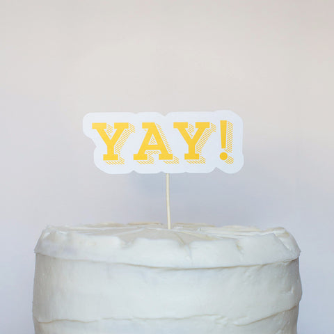 Yay! Cake Topper - Slab Serif