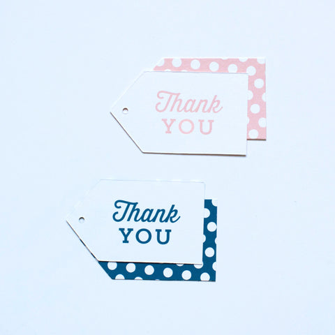 Gift Tag - Thank You - Various Colors