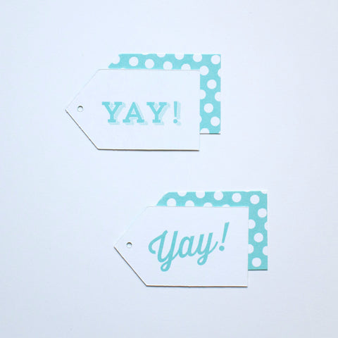 Gift Tag - Yay! - Various Colors