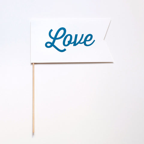 Love Flag Photo Prop - Script