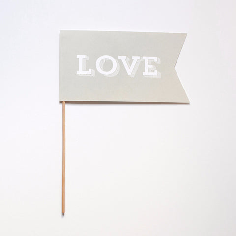 Love Flag Photo Prop - Slab Serif