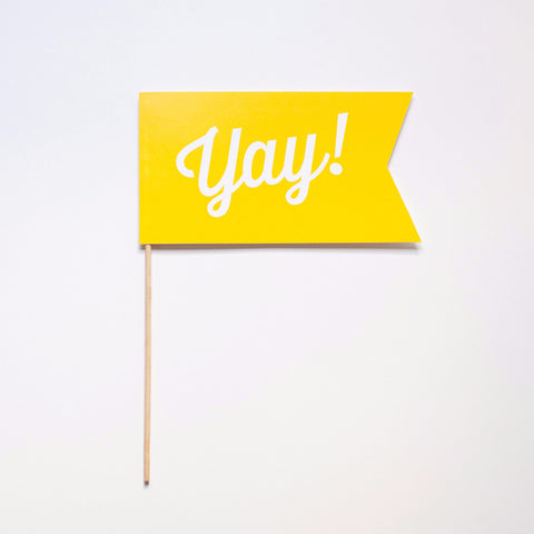 Yay! Flag Photo Prop - Scirpt