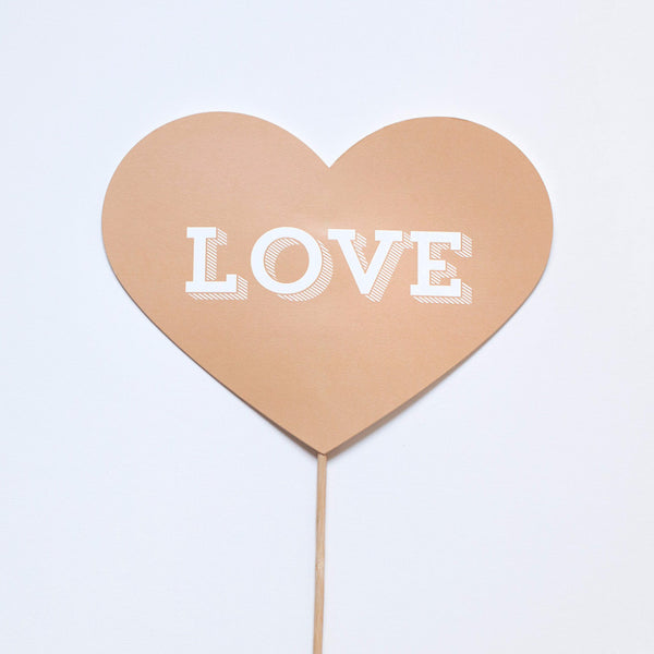 Love Heart Photo Prop - Slab Serif
