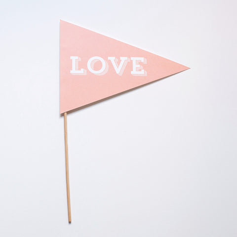 Love Pennant Photo Prop - Slab Serif