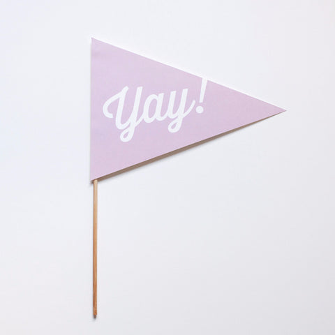 Yay! Pennant Photo Prop - Script