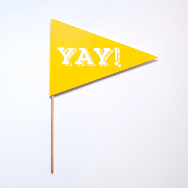 Yay Pennant Photo Prop - Slab Serif