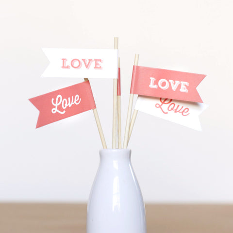 Love Small Flags - Wedding Collection