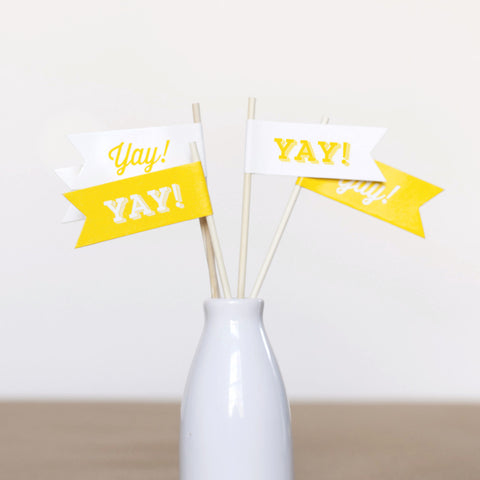 Yay! Small Flags - Wedding Collection