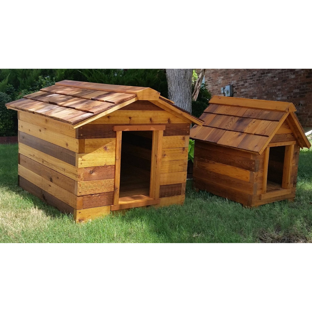 large dog house cedar house hambone and dogs pet treats 10611