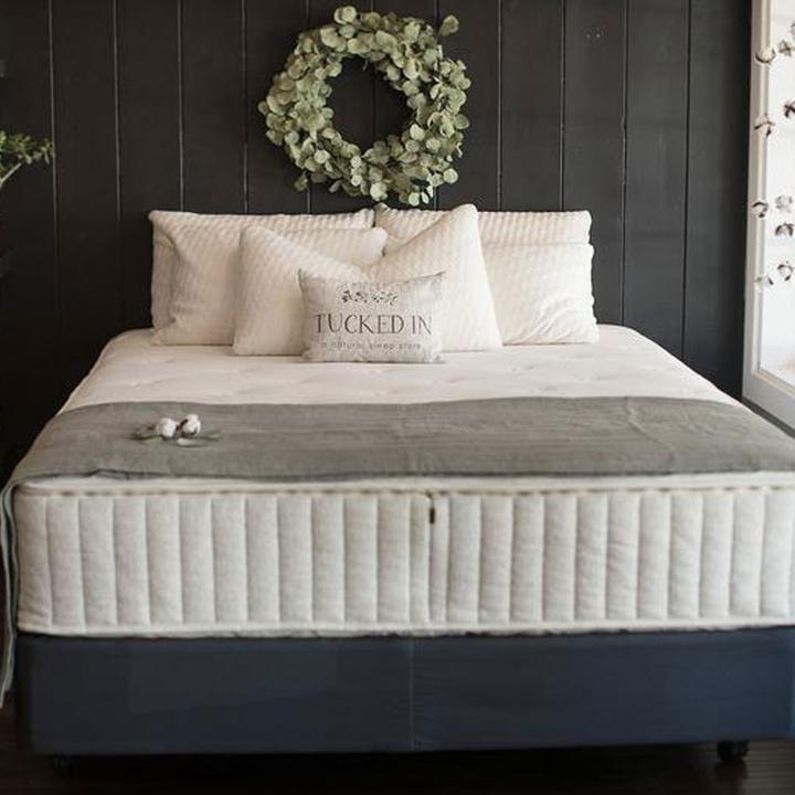 The Harmony Organic Mattress with Free Bedding Bundle by Sage Sleep