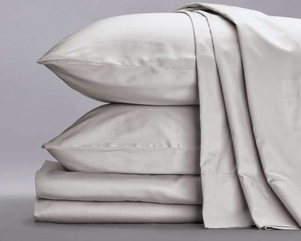 Cotton Sateen Sheets in Ash-Sage Sleep