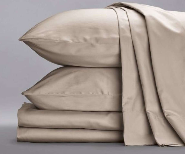 Cotton Sateen Sheets in Sand Color-Sage Sleep