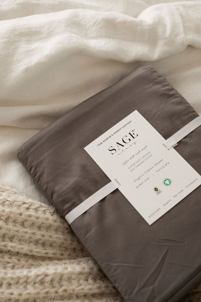 Sateen Organic Cotton Sheet Set by Sage Sleep