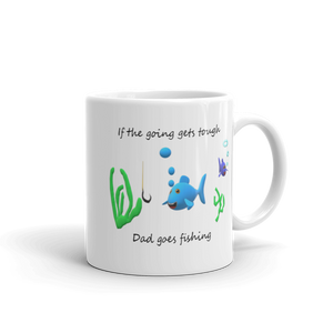 Fathers Day Mug Gone Fishing