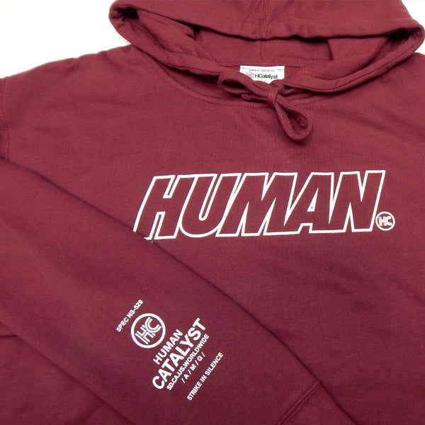 Human Outline Puff - Maroon