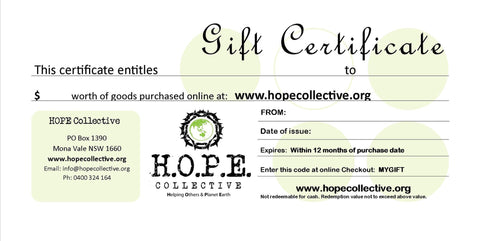 HOPE Gift Certificate